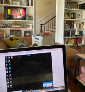 laptop in home