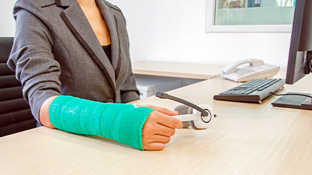 person working with a work injury